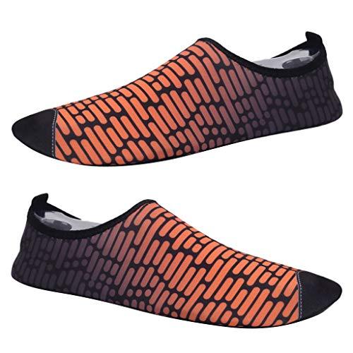 IPOTCH 1 Par de Zapatillas de Correr Mujer Delgadas y Plegables, Diseño Clásico de Mezcla de Color - Naranja, 43-44