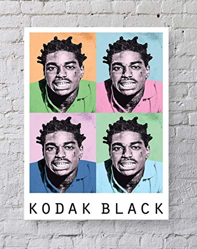 LLp Kodak Black Poster Standard Size   18-Inches by 24-Inches   Kodak Black Hip Hop Trap Rapper Wall Poster Print