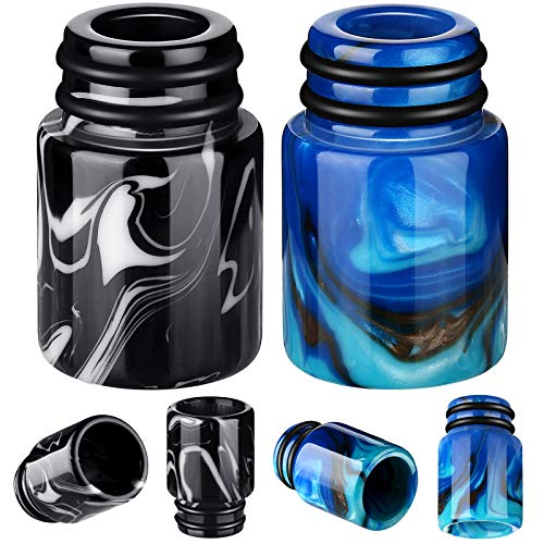 2 Pieces 510 Drip Tips Replacement Resin Drip Tip Connector Cover Honeycomb Standard Drip Tip for Coffee Machine Favors Ice Maker