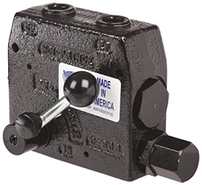 """Prince RDRS-175-30 Flow Control Valve, Adjustable Pressure Relief, Cast Iron, 3000 psi, 0-30 gpm, 3/4"""" NPTF by Prince Manufacturing"""
