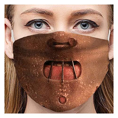 OPALLEY Lustig Mundschutz Bandanas Waschbar 3D Druck Wiederverwendbar Stoffmaske Erwachsene Mund-nasenschutz Stoff Atmungsaktiv Staubdichte Halstuch Bandana für Herren Damen
