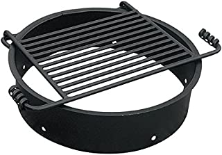 Fire Pit Ring with Attached Grill Grate, Model# FS-24/6
