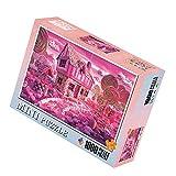 Lecimo 1000 Piezas Rompecabezas Rollo Mat Rompecabezas Almacenamiento Rompecabezas Juego para Adultos Candy House