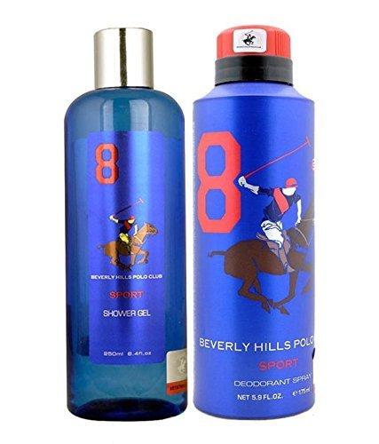 Beverly Hills Polo Club - Set de regalo para hombre (8 unidades, desodorante y lavado del cuerpo)