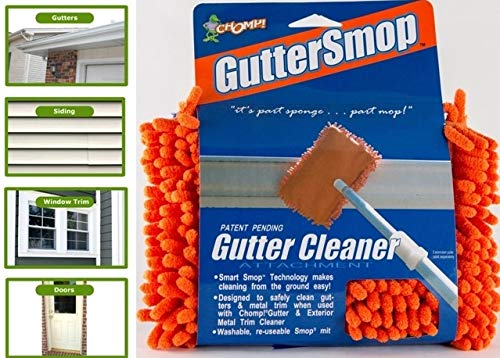 CHOMP Microfiber Gutter Cleaner Tool: Ultimate Gutter Cleaning Smop for All Types of Rain Gutters,...