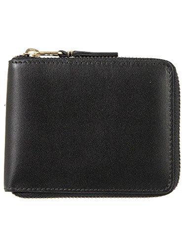 [コムデギャルソン] COMME des GARCONS ラウンドファスナー二つ折り財布 ブラック CLASSIC LINE [クラシッ...