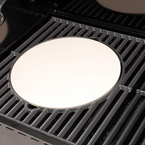 Maxxus BBQ Chief Pizzastein - runde Grillplatte, Grillzubehör für BBQ Chief Gasgrill 9.0 und 12.0 und andere Modelle