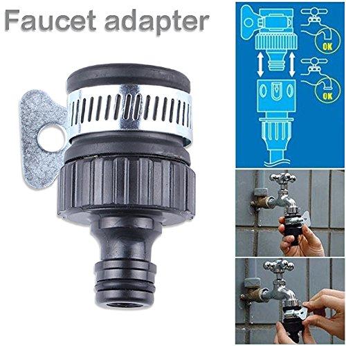 Lembeauty Universal-Wasserhahn-Adapter aus Kunststoff, verstellbar, für Autowäsche, Hauswäsche, Schlauchklemme, 2 Stück