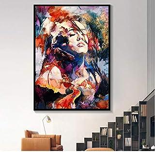 HHLSS Cuadros de la Pared 70x90cm sin Marco Graffiti Jean Michel Basquiat Pintura Art Poster Print Canvas Picture Wall Print Home Decor