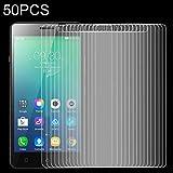 MEMEXHEVAT Bildschirmschutzfolie aus gehärtetem Glas für Lenovo Viber P1M, 9H, 2,5D, 50 Stück