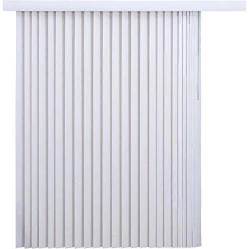 Mainstay 78 x 84 Light-Filtering Vertical Blinds, (1, White)