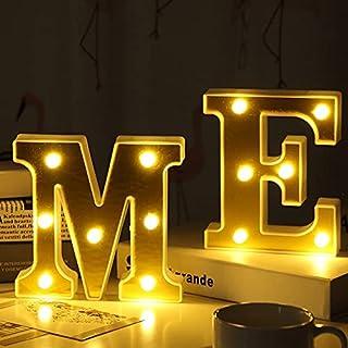LEDナイトライト-17CM3D金メッキレターマーキーサインアルファベットライトランプホームクラブ屋外屋内パーティーウェディングホーム (Color : Q)
