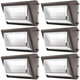 Sunco Lighting 6 Pack 80W LED Wall Pack, Daylight 5000K, 7600 LM, HID Replacement, IP65, 120-277V, Bright Consistent Commercial Outdoor Security Lighting - ETL, DLC
