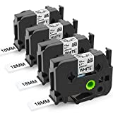 brother 3 4 inch tz tape - Freshworld Compatible Label Tape Replacement for Brother P-Touch Label Maker TZe241 TZ241 18mm 0.7 Laminated White, Black on White,3/4 Inch x 26.2Feet(8m),for Brother P-Touch PT D400 D400AD 1880C,4P