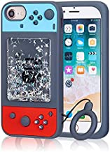 Jowhep Case for iPhone SE 2020 iPhone 7 iPhone 8 iPhone 6 iPhone 6S Cartoon Cute 3D Kawaii Fun Quicksand Game Sparkle Bling Design Designer Soft Silicone Cover, Cool Funny Cases for Girls Kids Boys
