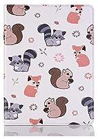 IPad Pro 11インチ、かわいい漫画の動物のデザインPUレザーフリップ財布スタンドタブレットカバーケースカバーケースカバーケースカバーケース (Color : 5)