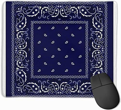 Bandana Blauwe Gaming Muis Mat Pad Muis Mat Antislip Rubber Base Oppervlak voor Computer PC Toetsenbord en Bureau 9.8