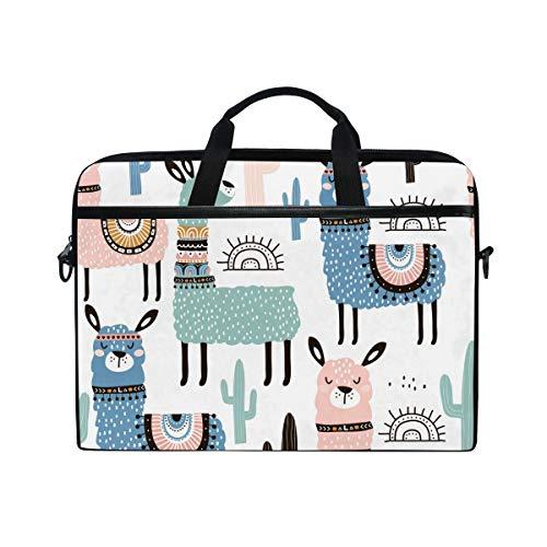 XMCL Llama Alpaca Laptop Case Shoulder Bag Computer Notebook Briefcase Messenger Bag with Adjustable Shoulder Strap Fits 14-14.5 inch
