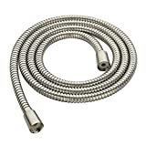 BRIGHT SHOWERS Shower Hose For Hand Held Shower Heads, 79 Inches Cord Extra Long Stainless Steel Handheld Shower Head Hose, Ultra-Flexible Replacement Shower Hose with Brass Insert, Brushed Nickel