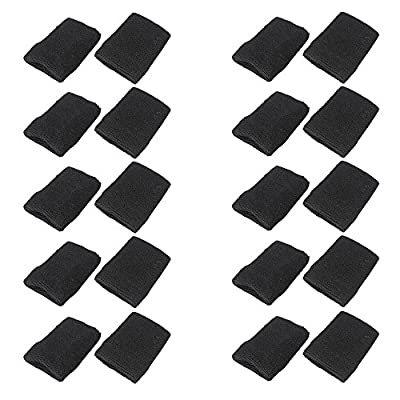 Mallofusa 10 Pack Colorful Sports Basketball Football Absorbent Wristband Party Outdoor Activity