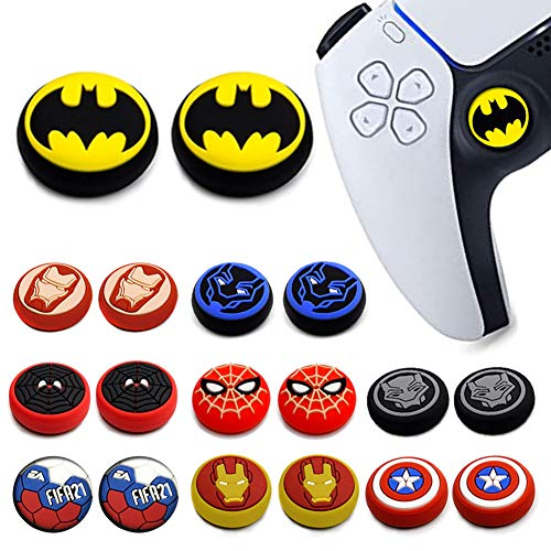 2Pcs Analog Thumb Grip Stick Cover, Dualsense Wireless Controllers Game Remote Joystick Cap, Fantastic Non-Slip Silicone Handle Protection Cover for PS5/PS4/Xbox one/360/NS PRO