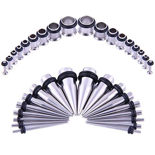 00 stainless steel plugs - 6