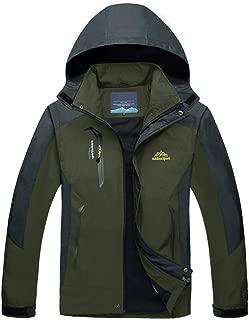 Men's Lightweight Windproof Jacket Spring Fall Hiking Running Jacket Hooded Raincoat Windbreaker