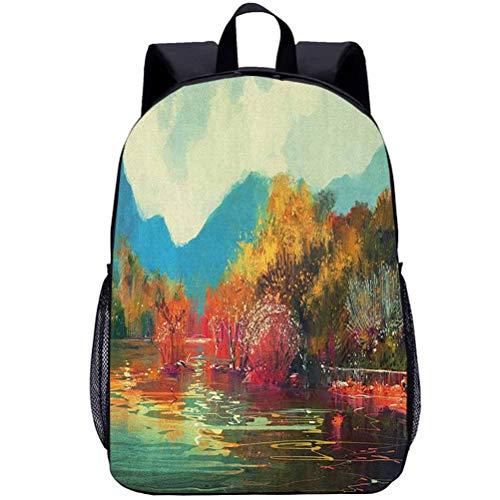 Printing Backpacks, Art, Kindergarten Cute Cartoon Schoolbag, 16 inch