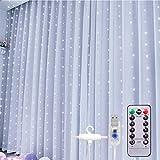 300LED Guirlande Lumineuse Rideau Lumières de cascade étoilées...