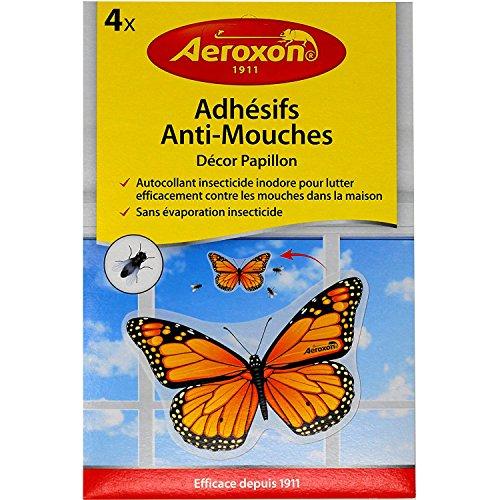 Aeroxon Insekten-Falter Fliegenköder 4 Stück, Gelb/Schwarz, 18x13x4 cm