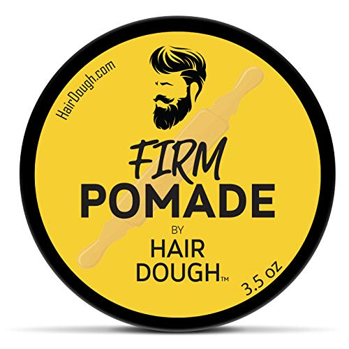 Hair Dough Mens Hair Pomade, Firm Hold and Moderate Shine Pomade for Men, Water Based and Lightly Scented for Straight, Thick and Curly Hair, 3.5oz