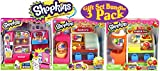Shopkins So Cool Fridge, Spin Mix Bakery Stand and Easy Squeezy Fruit & Vegetable Stand Playsets Gift Set Bundle - 3 Pack