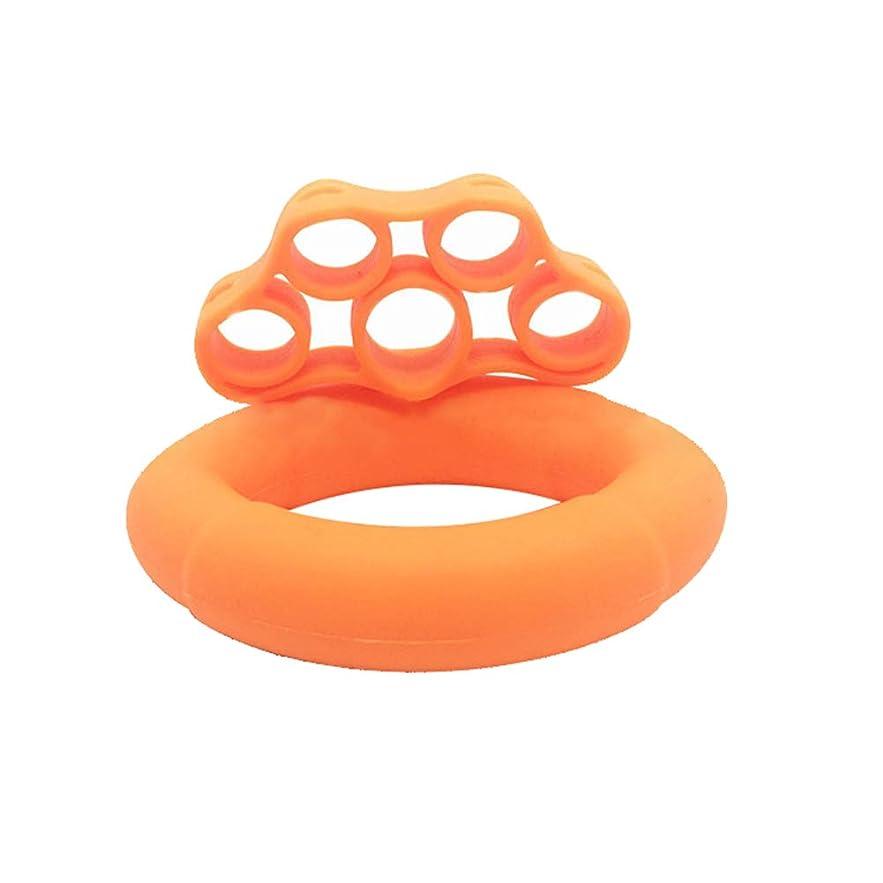 朝ごはん解明マイクロhamulekfae-手指グリップ補強筋力エクササイズリング抵抗バンドツールセット - ダークブルー