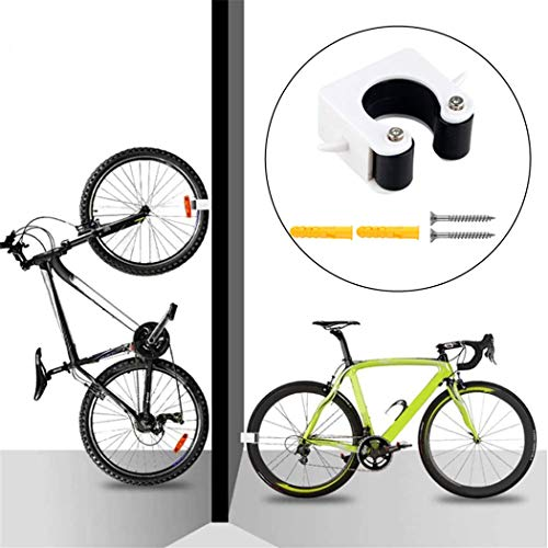 SeaISee Bicycle Parking Buckle Wall Mounted Bicycle Clip for Indoor Mountain Bike Rack Storage System(Black)