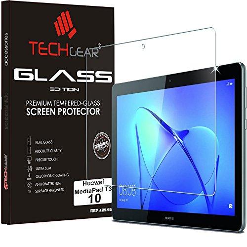 """TECHGEAR Vidrio Compatible con Huawei MediaPad T3 10 (9.6' Pulgada) - Auténtica Protector de Pantalla Vidro Templado para Huawei Mediapad T3 10"""" Tablet"""