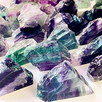 Zenkeeper 1 Lb Large Rough Fluorite Stone Raw Fluorite Crystal Stone Natural Rainbow Fluorite Purple Fluorite Green Fluorite Crystal Stone Mineral Specimen Gemstone Healing Crystals and Stones