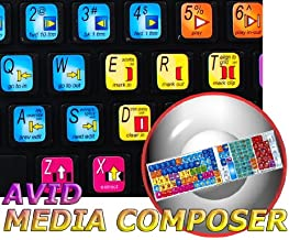 NEW AVID MEDIA COMPOSER KEYBOARD STICKERS SHORTCUTS