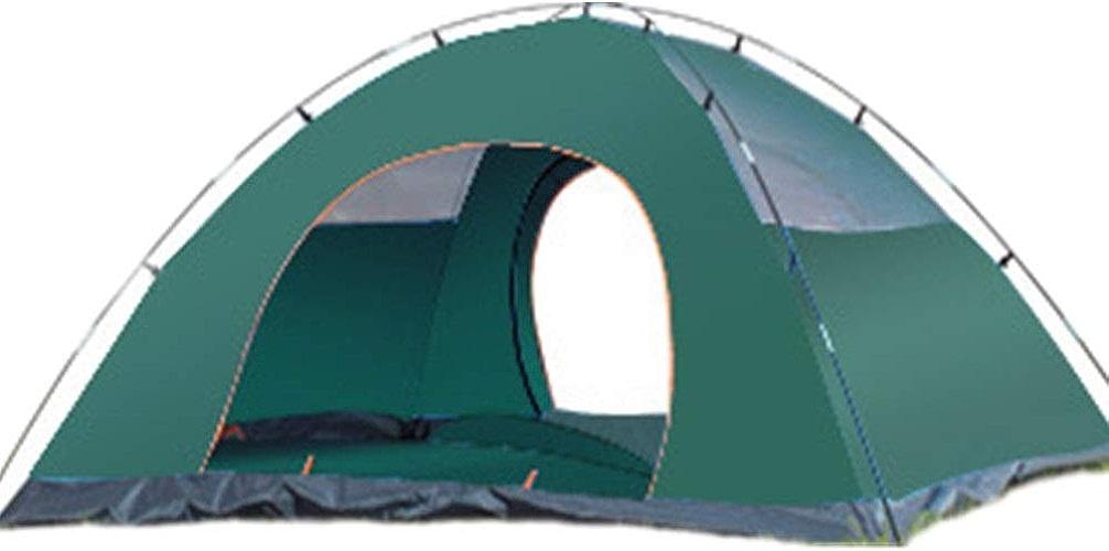 Voyage Camping Extérieur Tente Imperméable à La Pluie Double Tente De Camping Amovible Camping Camping Profitez des activités de Vacances (Couleur   Vert, Taille   2 People Single Layer)