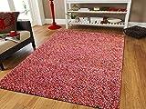 Trend Living 4 U GmbH Handgearbeitet Designer rutschfeste Teppich Wohnzimmer Kinderzimmer oder Flure 140x200 cm Lila