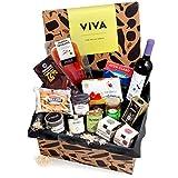 Präsentkorb 'Viva' mit spanischen Delikatessen | Dekorative Geschenk-Box mit ausgewählten spanischen Spezialitäten | perfekt als Geschenk