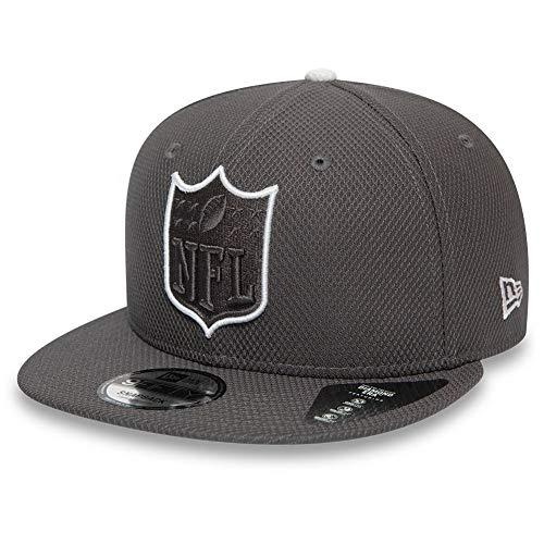 New Era NFL Shield Team Outline Graphite White Snapback Cap 9fifty 950 M L Basecap