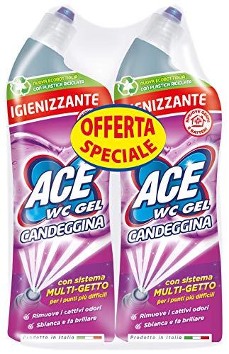 ACE Wc Gel con Candeggina Bipacco, 2 x 700 ml