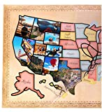 US Photo Map – 24 x 36 inch United States Travel Memory Map – Personalize with Photos of the States I've...