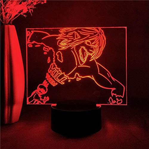 Anime Angriff auf Titan Nachtlicht für Kinder Geschenk Home Schlafzimmer Dekor Eren Jaeger Figur Led 3D Manga Figur Tischlampe advent calendar 2021 DUYAO00