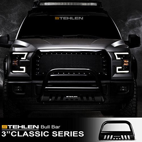 "Stehlen 714937181762 3"" Classic Series Bull Bar - Black For 2005-2019 Nissan Frontier / 2005-2007 Pathfinder / 2005-2015 Xterra"