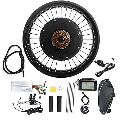 Kit de motor de bicicleta eléctrica, aleación de aluminio 48V 1500W 20x4.0 pulgadas Kit de rueda de motor de motor de conversión de (190mm)