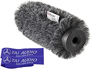 Rycote 12cm Classic-Softie (19/22) for Schoeps CMIT5U or DPA 4017 with (2) TAI Audio Cable Straps