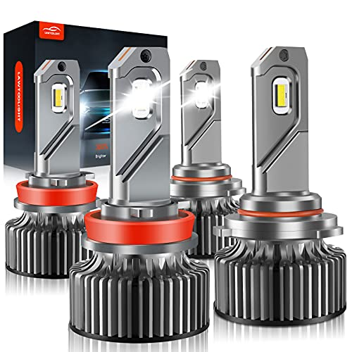 9005/HB3 H11/H8/H9 LED Headlight Bulbs, LAWTOOLIGHT High Low Beam Headlight...