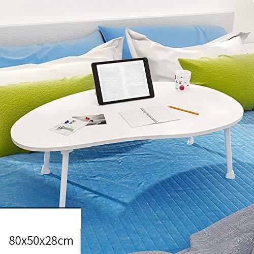 Home&Selected Furniture/draagbare mango styling-desktop, kinderleesstandaard, laptoptafel, sofa ontbijttafel 80 x 50 x 28 cm (kleur: rood)