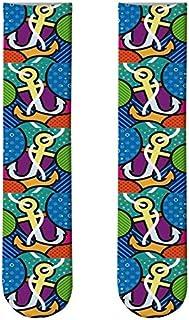3 Pares Calcetines Largos De Palomitas De Maíz Kawaii Calcetines hasta La Rodilla Impresos En 3D De Dibujos Animados Calcetines De Hamburguesa De Algodón Informales Lindos Y Novedosos